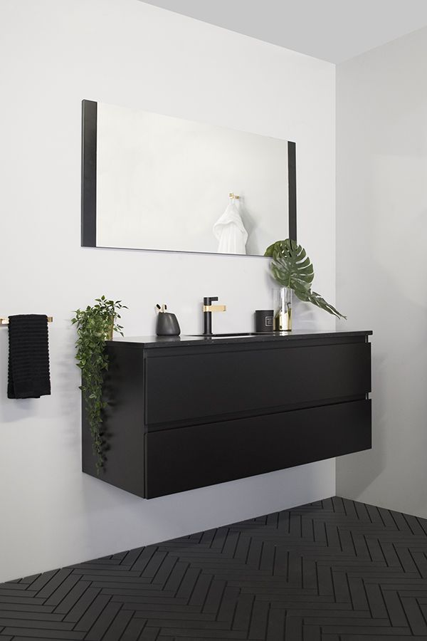 Emporia All Drawer Vanity Architectural Designer Products Matte Black Polyurethane Cabinet