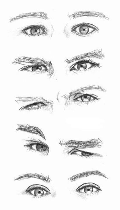 How To Draw Man Eyes Great Expressions Sketch Templates