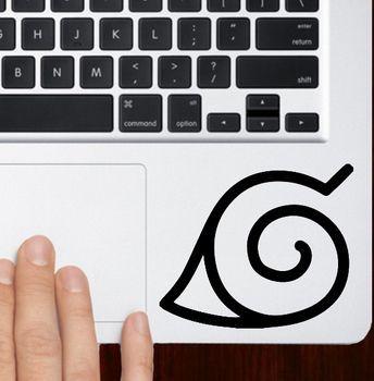 Naruto seal emblem logo macbook pro air 13 trackpad keyboard stickers keybords laptops pinterest macbook logos and shopping