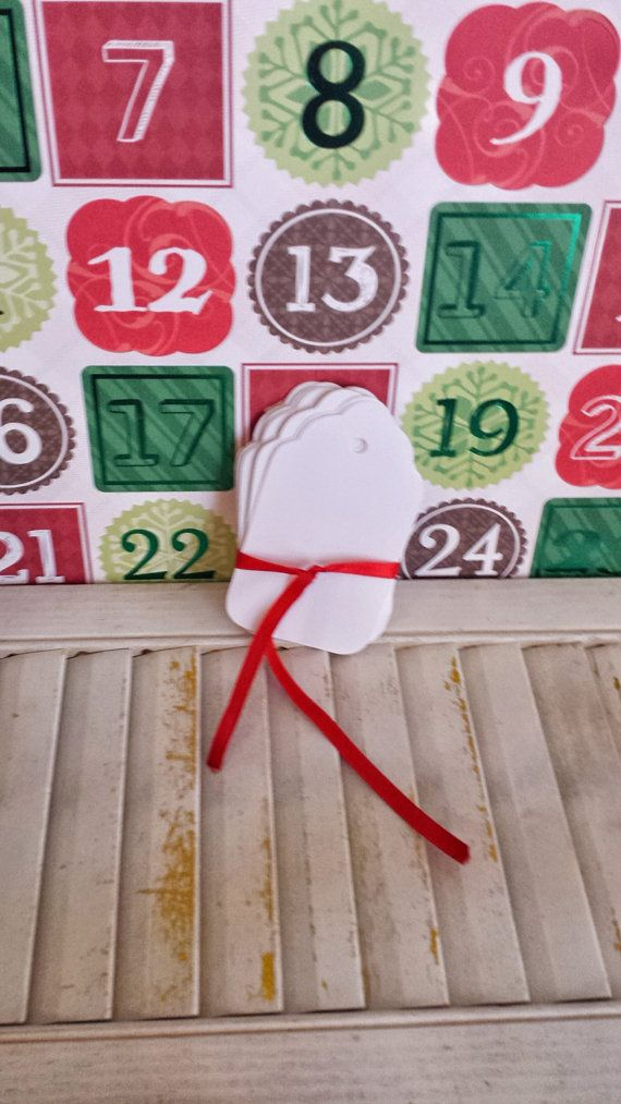 100 White Kraft Scallop Christmas Hang Tags, Hand Punched, 2 1/4 x 3 7/8 Inches, Wedding Escort Cards, Gift Tags, Product Labels, Holidays $15.99