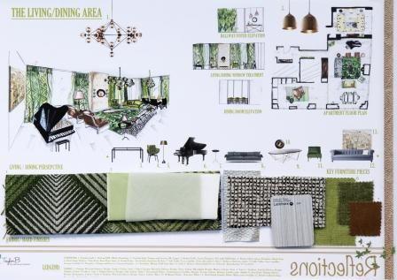 Soft Furnishings Lounge Room City Fringe Apartment Taylor Black Diploma Of Interior Design