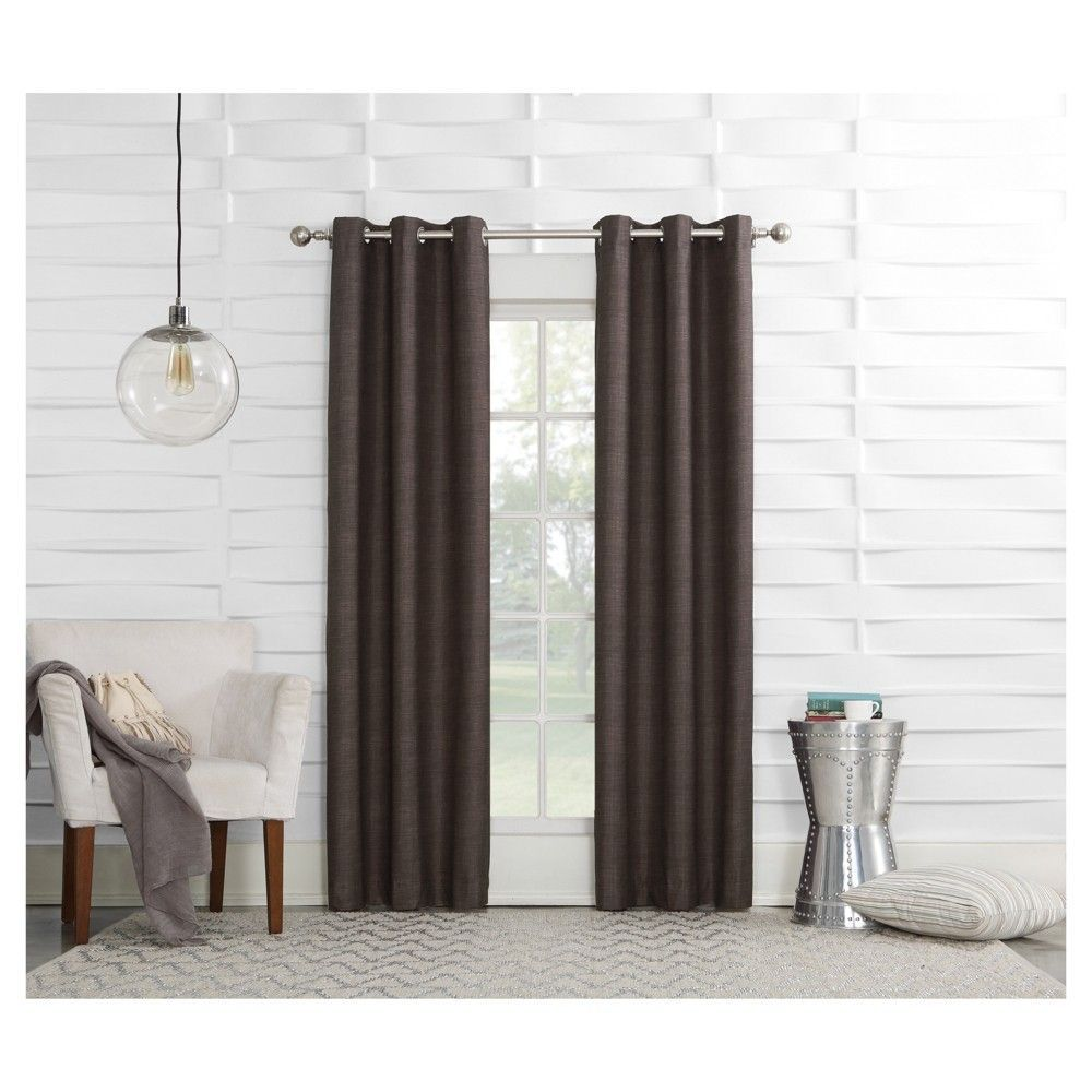 Sun Zero Haverhill Linen Texture Thermal Insulated Energy Efficient Grommet Curtain Panel Customwindowtreatments Grommet Curtains Curtains Lined Curtains