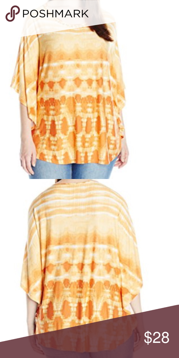 671aaeb1f61 PLUS 1X Ruby Rd. Tie Dye Embellished Flowy Top Gorgeous lightweight knit top  with