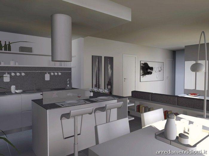 Cucina angolare con penisola moderna dream diotti a f for Bancone con angolo