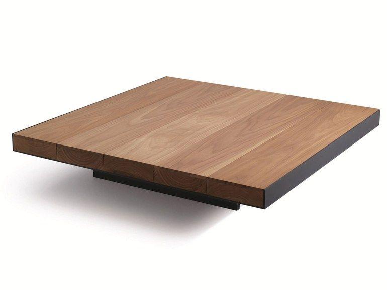 Low Square Solid Wood Coffee Table Deck Lema Kvadratnye
