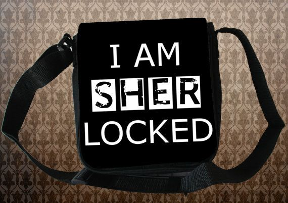 "SHERLOCK BBC ""I Am Sherlocked"" *NEW* Small Messenger Bag Great Gift Sherlock Holmes"