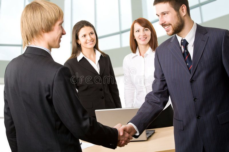 Group Of Business People Collaborating In Office With Images