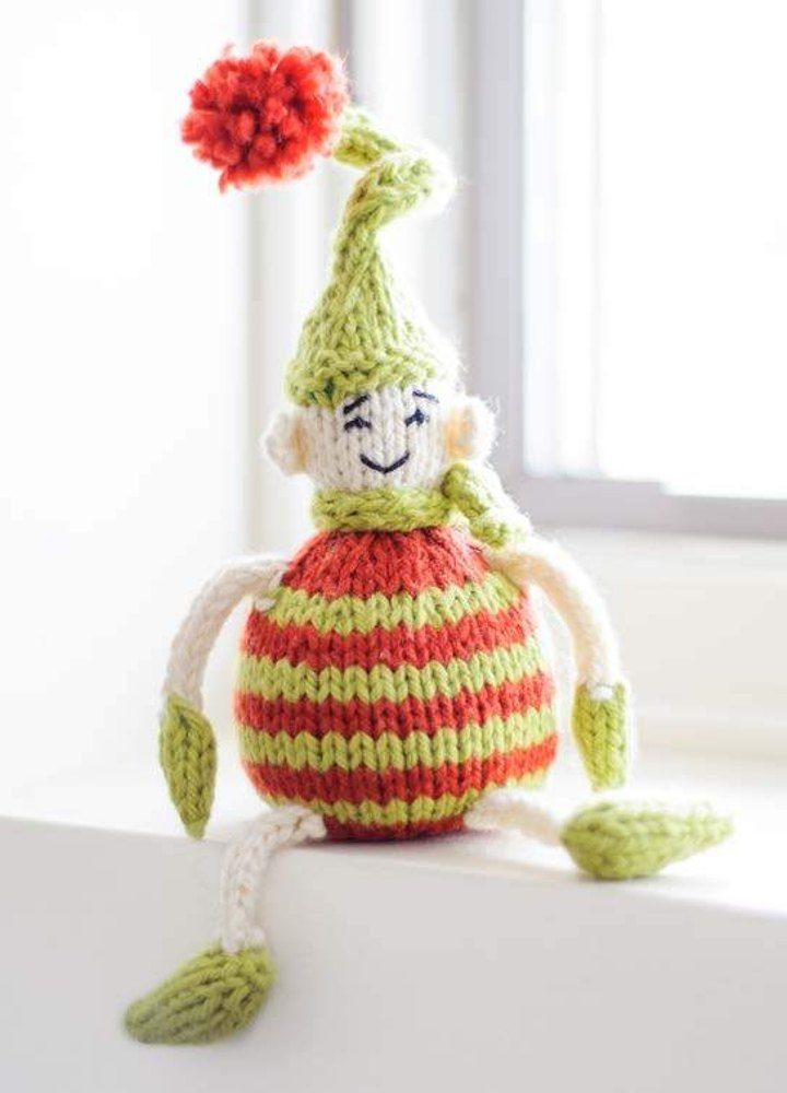 FREE knitting pattern for toy Tiny Elf in Spud & Chloe. A cute ...