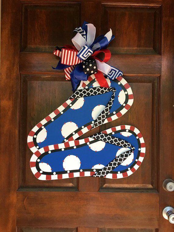 Patriotic Door Hanger Fourth Of July 4th Of July Summer Door Hnager Flip Flop Products