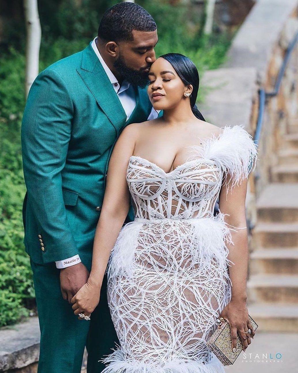 "KrimeWithKissy on Instagram: ""Her wedding dress is so on point! ��� • The unforgettable @angelera @bigbruh70 ��� Dress @ryanandwalter Photo: @stanlophotography Wedding…"""