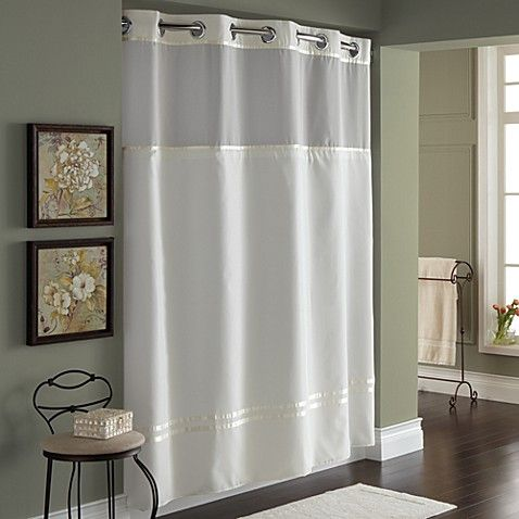 Exceptionnel Hookless® Escape 71 Inch X 74 Inch Fabric Shower Curtain And Shower Curtain
