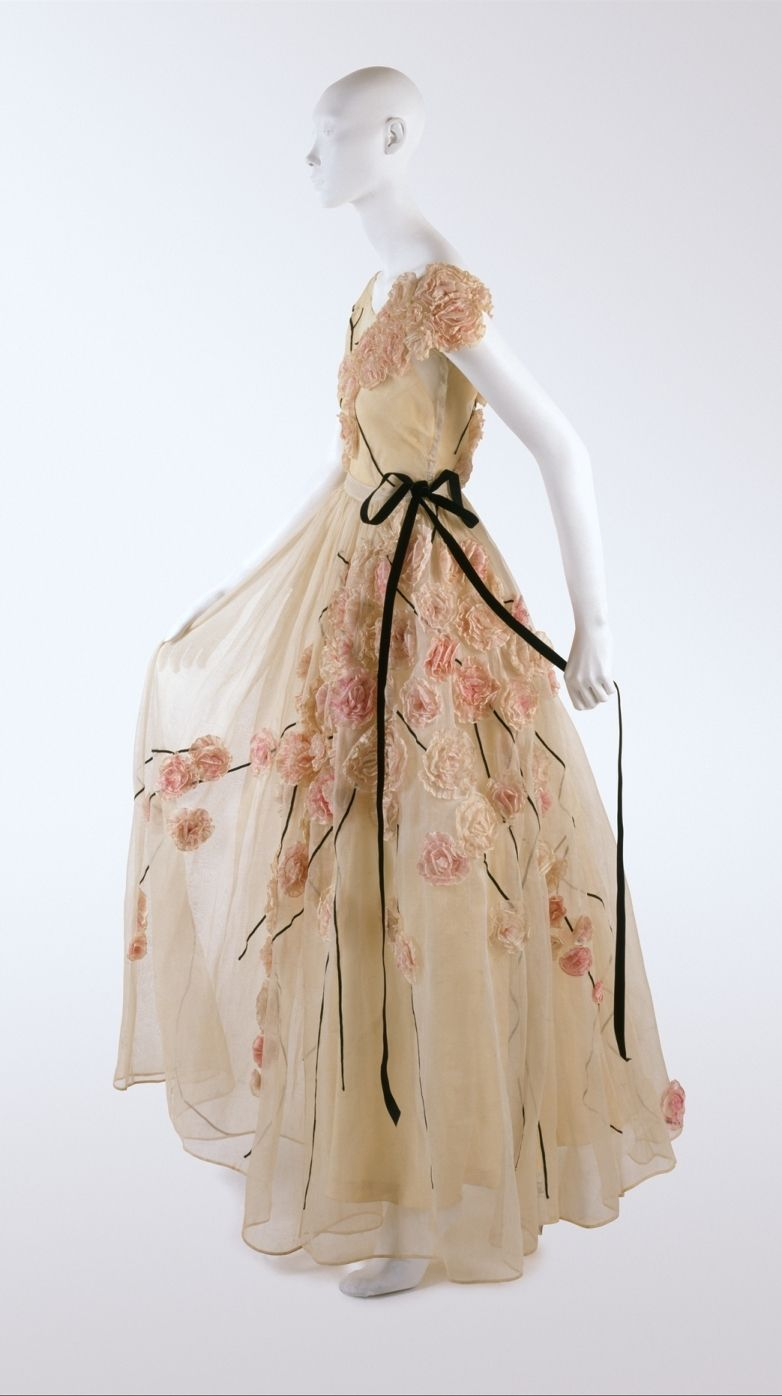 Dress Jeanne Lanvin French 1867 1946 For The House Of Founded 1889 1937 Cotton Silk