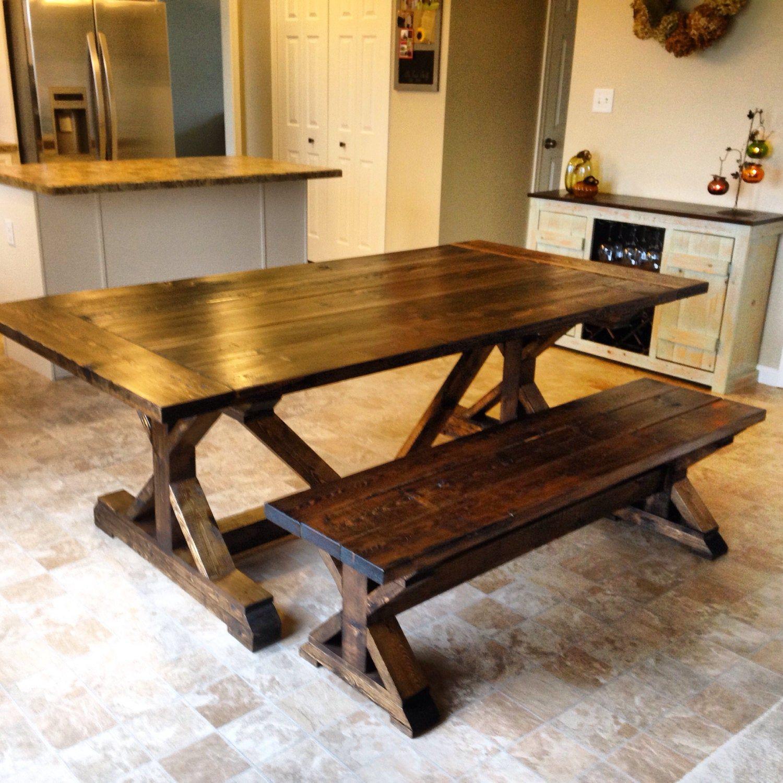 Farmhouse bench in 2020 farmhouse style dining table