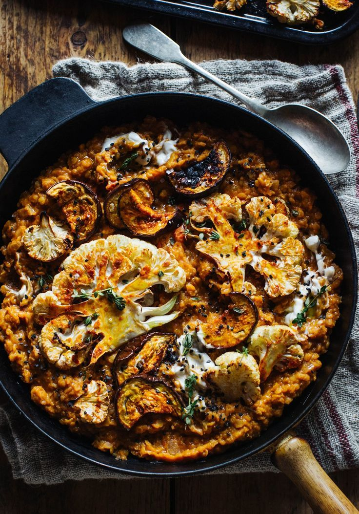 Photo of Smokey Lentils with Harissa Roast Cauliflower & Aubergine – Rebel Recipes