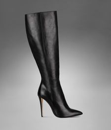 ysl clara highheel boot in black shiny leather  boots