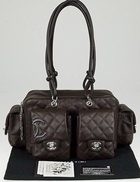 30f0235515609c Chanel Quilted Leather Cambon Ligne Multi-pocket Reporter Brown Tote Bag.  Get one of the hottest styles of the season! The Chanel Quilted Leather  Cambon ...