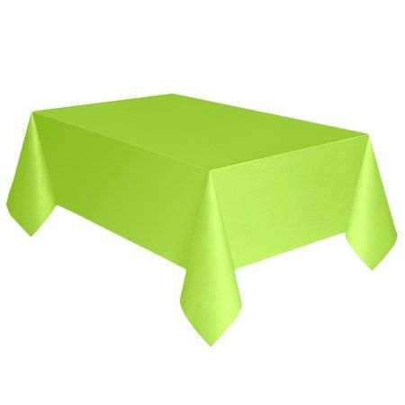 Ordinaire Neon Green Solid Re Ctangular Plastic Table Covers, 3 Ct