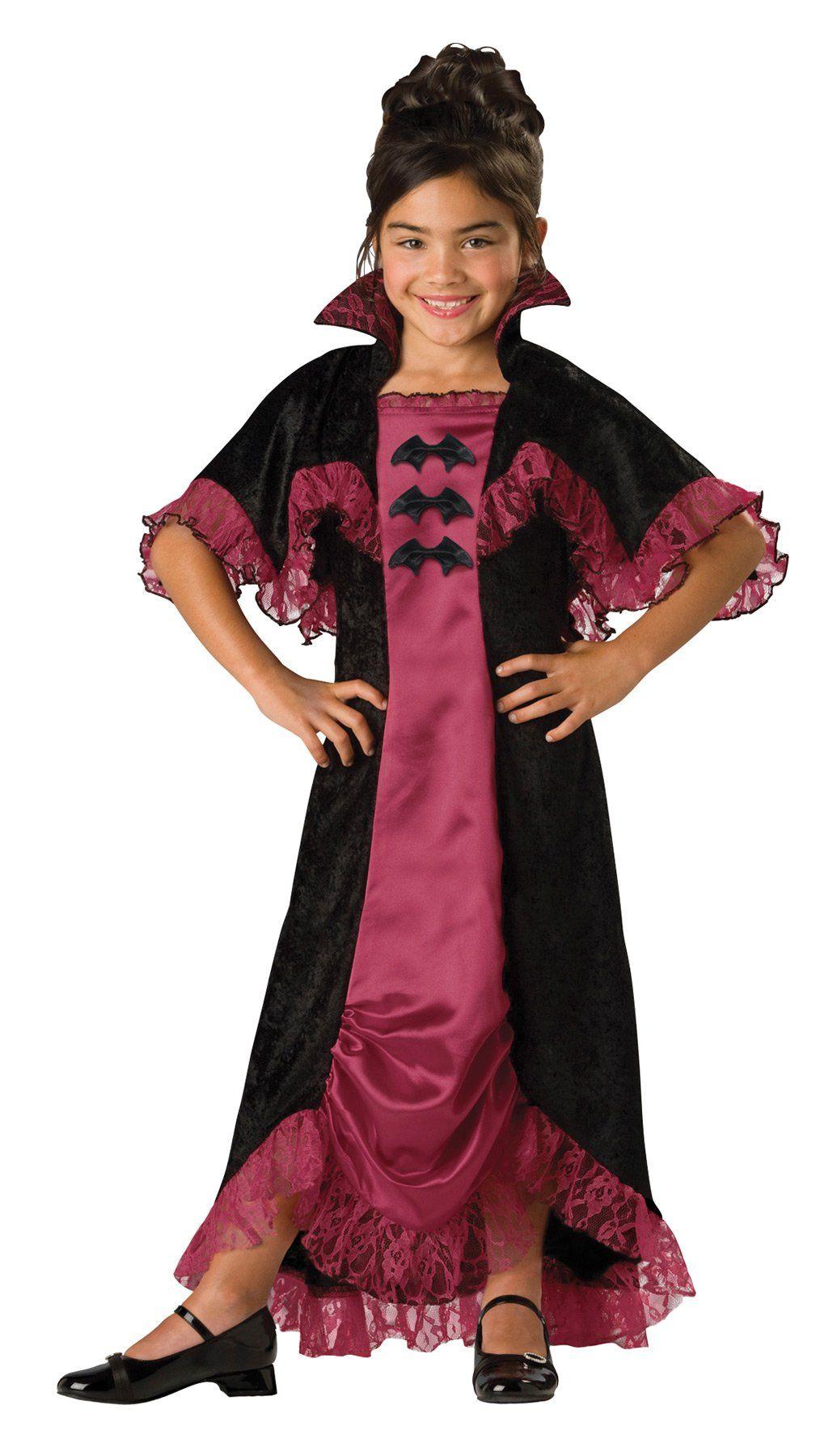 Midnight Vampiress Child 10 Vampire dress, Girl costumes