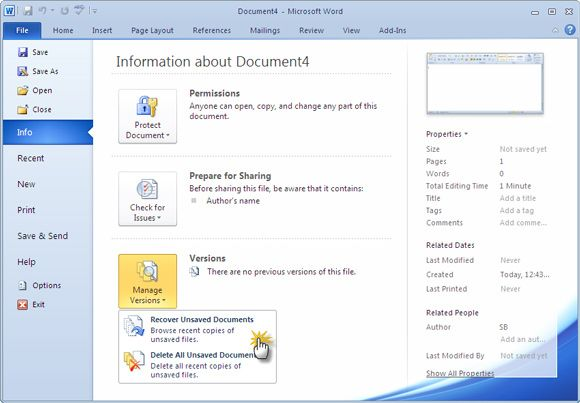 How To Recover An Unsaved Microsoft Word Document In Seconds