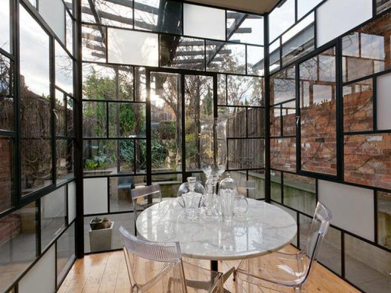 Glass Extension Victorian Double Terrace Inside View
