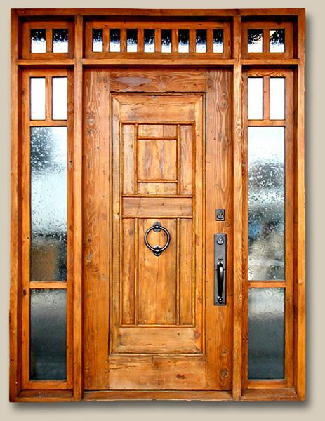 Front Entry With Transom Sidelights By La Puerta Originals See More Www Lapuertaoriginals