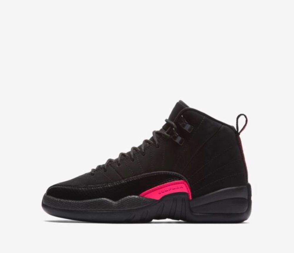 22a410d8add3 7Y Nike Air Jordan Retro XII 12 Black Rush Pink Dark Grey GS GG Teal  510815-006  fashion  clothing  shoes  accessories  kidsclothingshoesaccs   girlsshoes ...