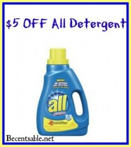 picture relating to All Laundry Detergent Printable Coupons named All Laundry Detergent Coupon: $5 Off Coupon Totally free Printable