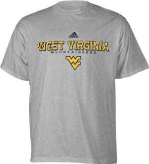 7cecca32178b West Virginia Mountaineers Grey Adidas Impervious T-Shirt by adidas.   17.99. 90% Cotton 10% Polyester for extreme comfort. Officially licensed.  Adidas logo ...