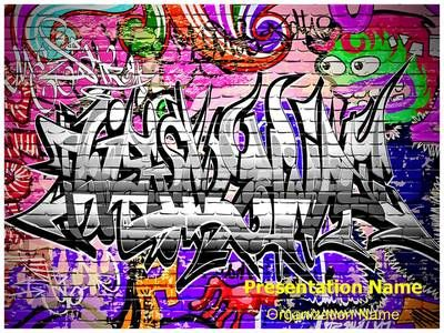 Graffiti urban art powerpoint template is one of the best graffiti urban art powerpoint template is one of the best powerpoint templates by editabletemplates toneelgroepblik Images