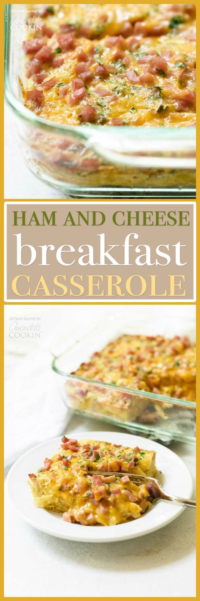 Photo of Breakfast Casserole with Ham and Cheese: an easy, cheesy cas…