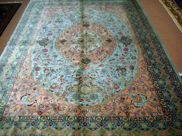 Authentic Persian Rugs Handmade Oriental Antique Silk