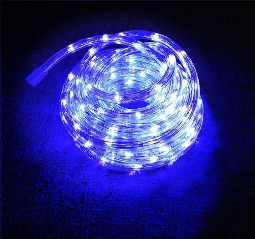 Blue 150 Ft 110v Home LED Rope Light Christmas Lighting w/ Adapter