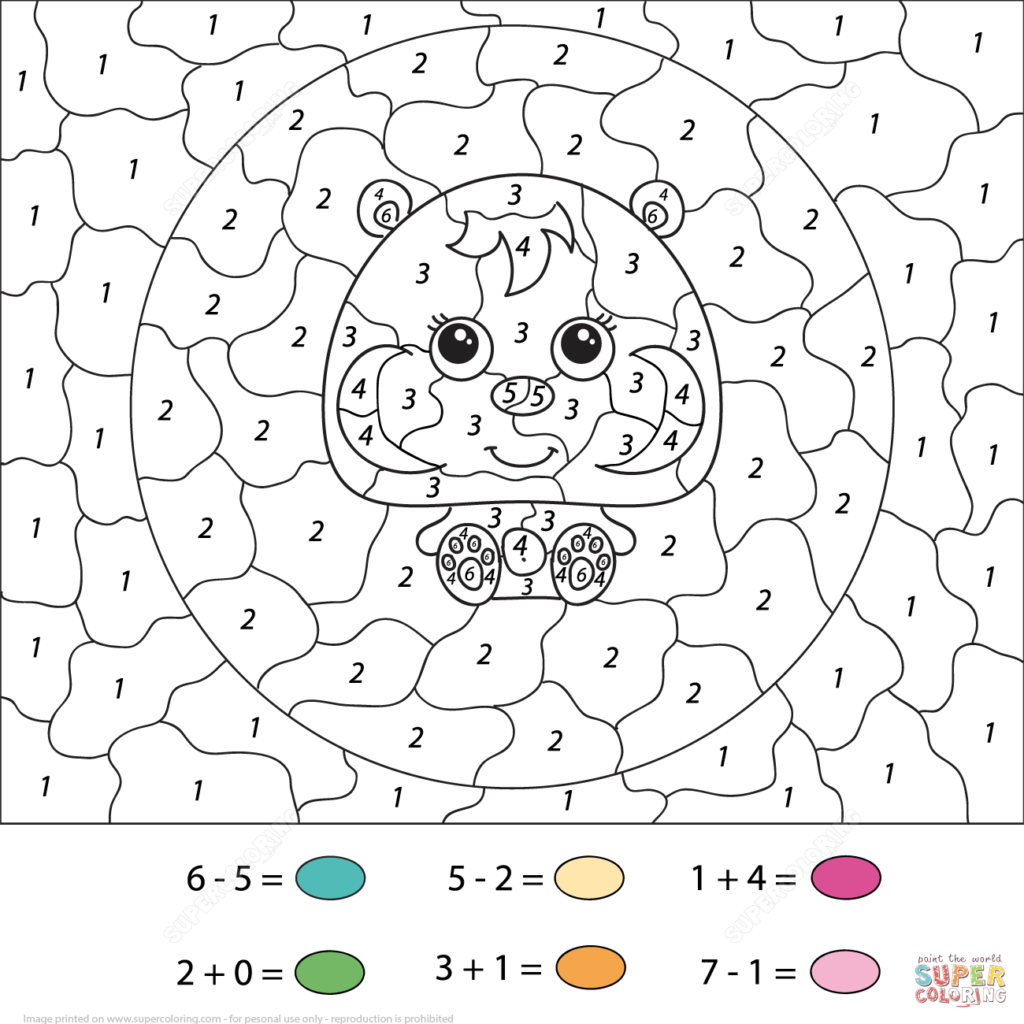 Printable Color By Number Worksheets For Kids