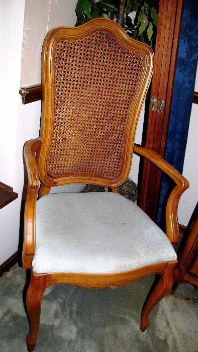 One Of A Set Of Six Vintage Thomasville French Country Style Dining Chairs Which Are Part Of A Large Thomasville French Upholstered Seating Rattan Chair Chair
