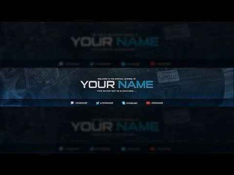 Gaming YouTube Banner Template for free | Nelson Designs