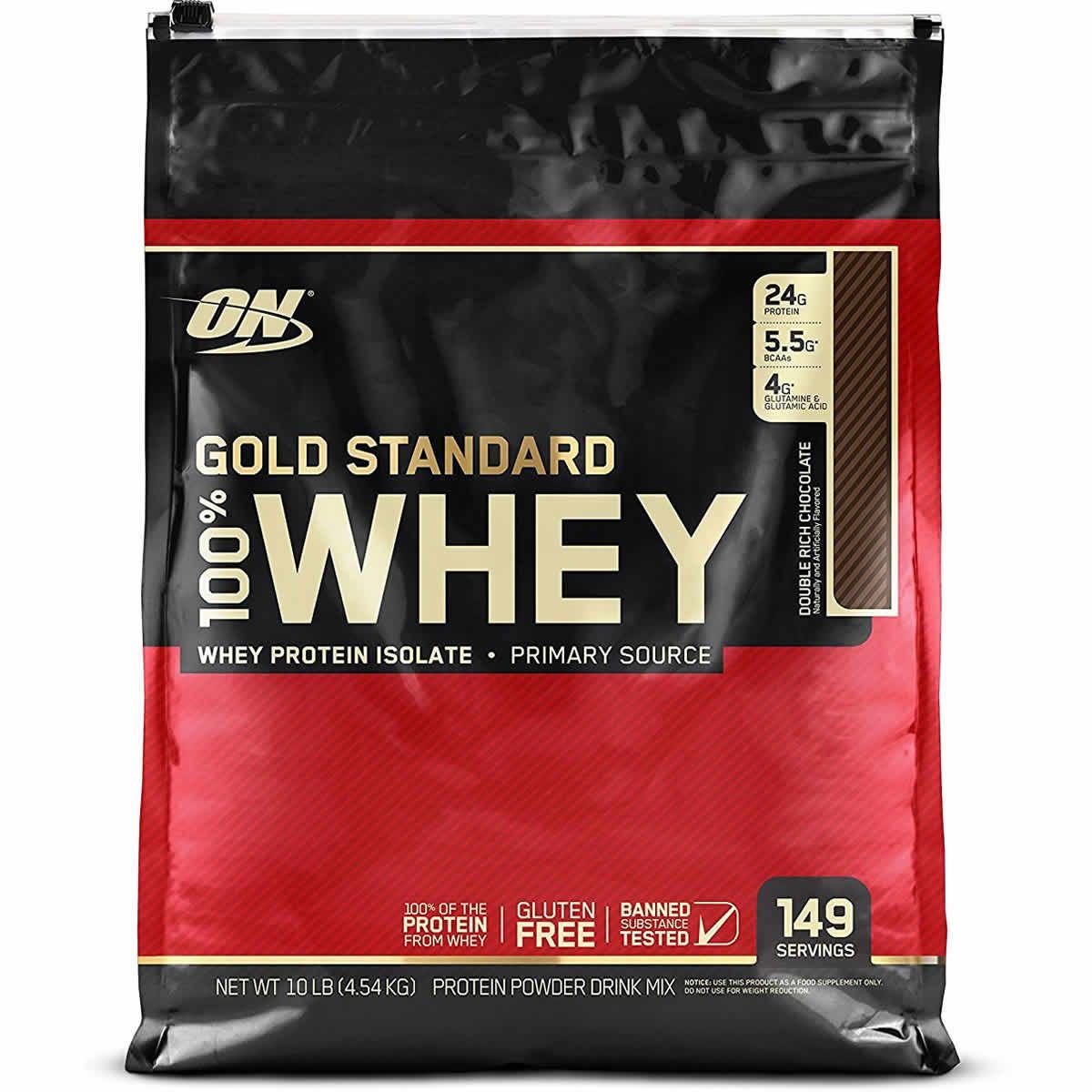 Optimum Nutrition Gold Standard 100 Whey Protein Powder 10 Lbs Optimum Nutrition Gold Standard Whey Protein Gold Standard Whey