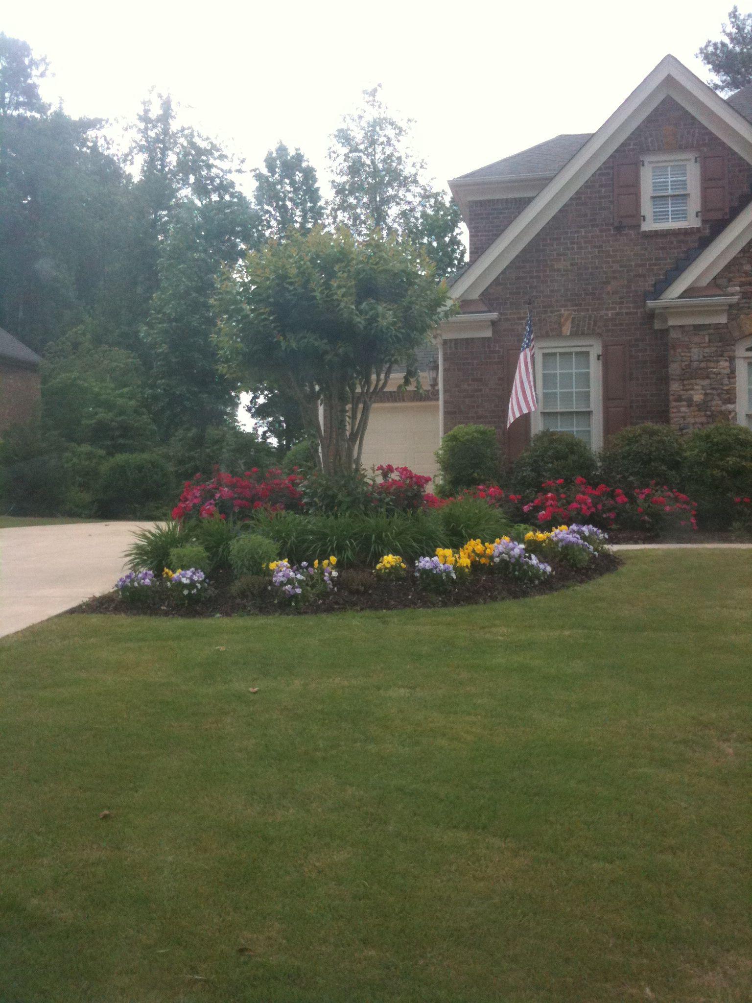 Landscaping The Corner Where The Driveway + Sidewalk Meet