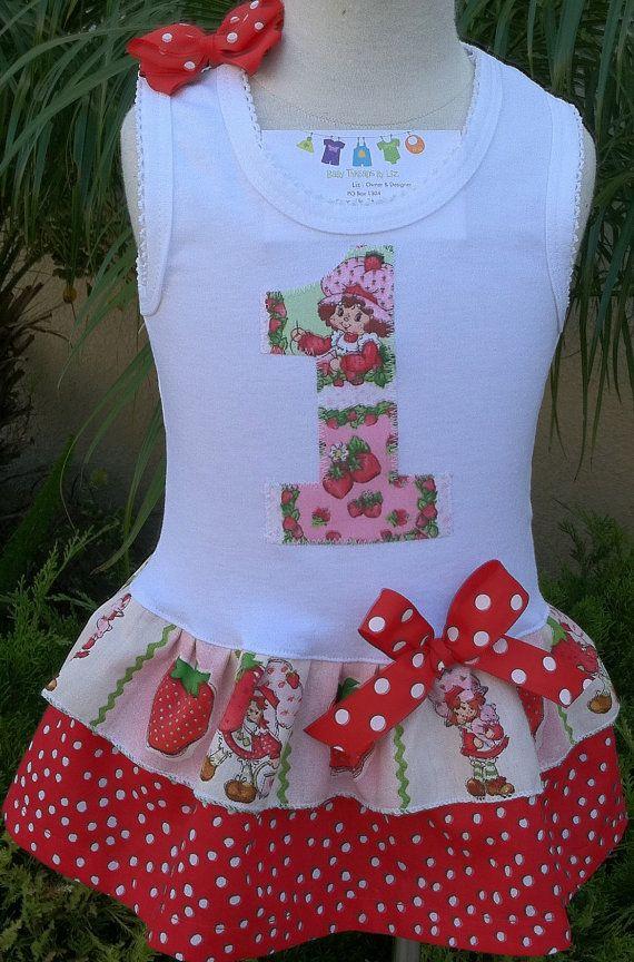 Strawberry Shortcake Dress Available in 03 by BabyThreadsByLiz, $23.00