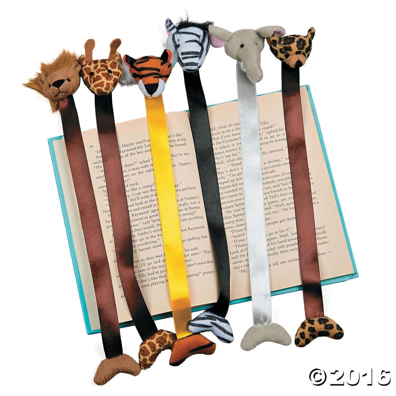 Plush Zoo Animal Bookmarks