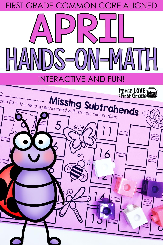 April Math Worksheets First Grade Distance Learning Google Classroom April Math April Math Centers Math [ 1500 x 1000 Pixel ]