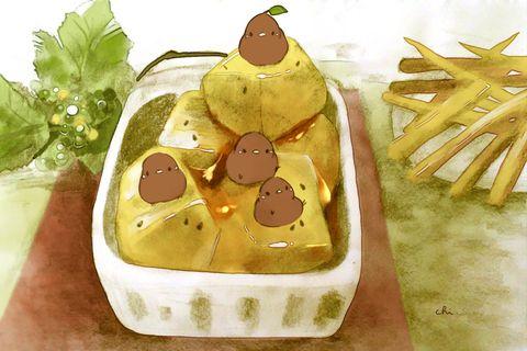 大学芋と芋けんぴ今日はさつまいもの日なんだって チャイ氏の作品