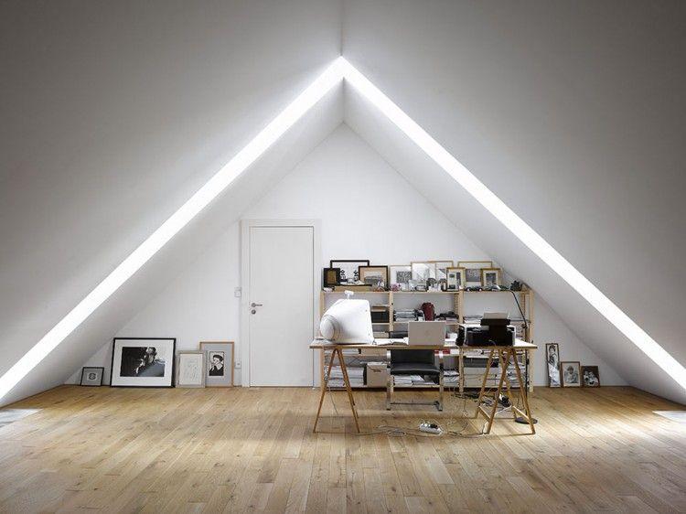 Family House In Klokocna By Studio Pha Attic Design Office Design Inspiration Attic Spaces