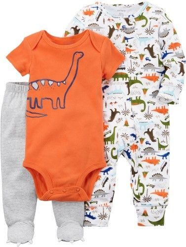 e8dec4ffa606 Carter s Baby Boys 3-pc. Dinosaur Safari Layette Set