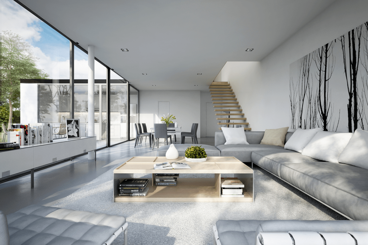 11 Modern Living Rooms With Cool, Clean Lines  Modern style