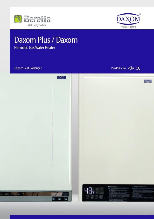 Daxom Plus / Daxom Hermetic GasWater Heater Copper Heat Exchanger TS ...