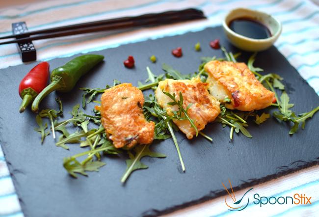 Korean Cod Fish Pancake or Fish Cake. Air fryer recipes