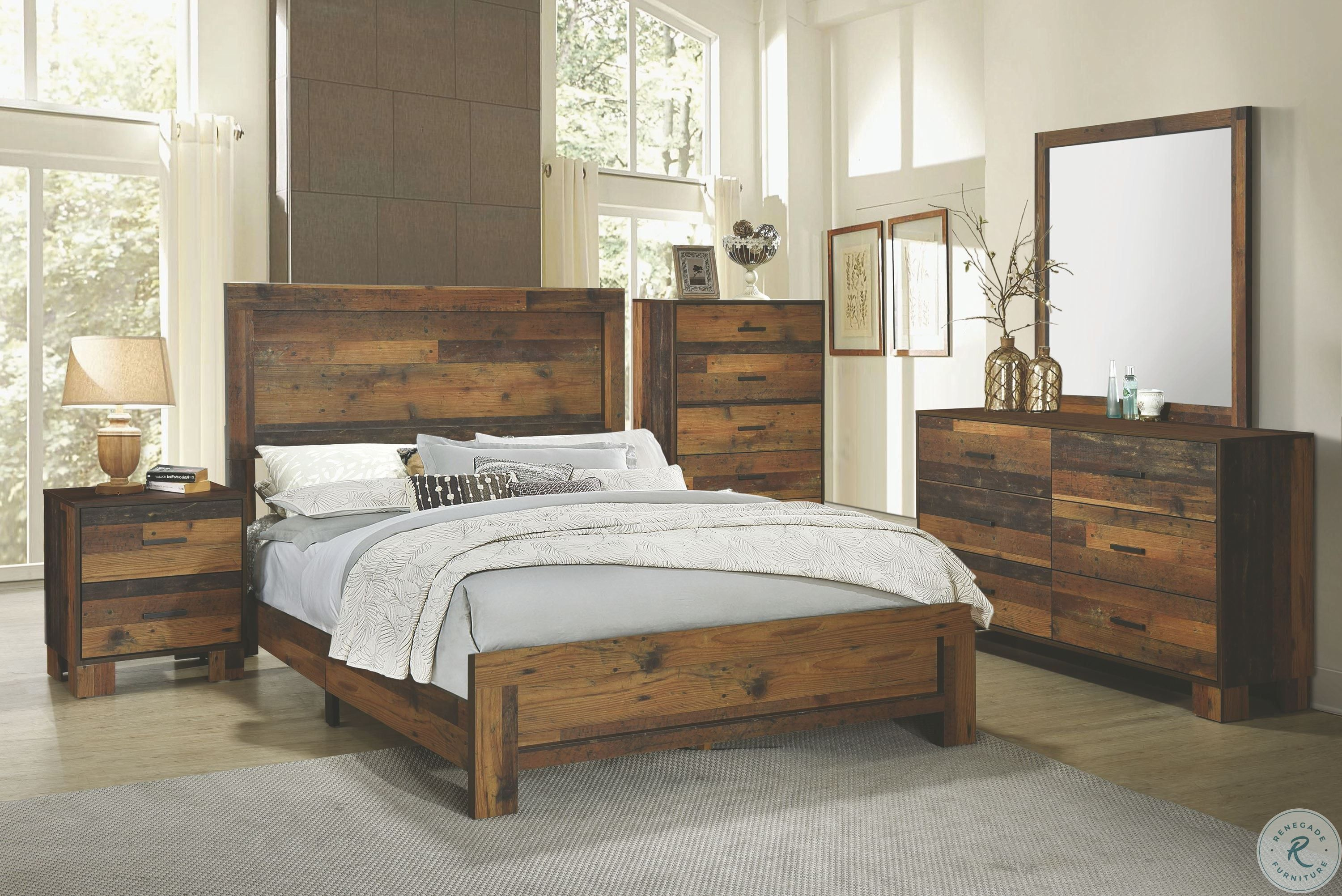 Wynnlow Gray Upholstered Poster Bedroom Set in 2020