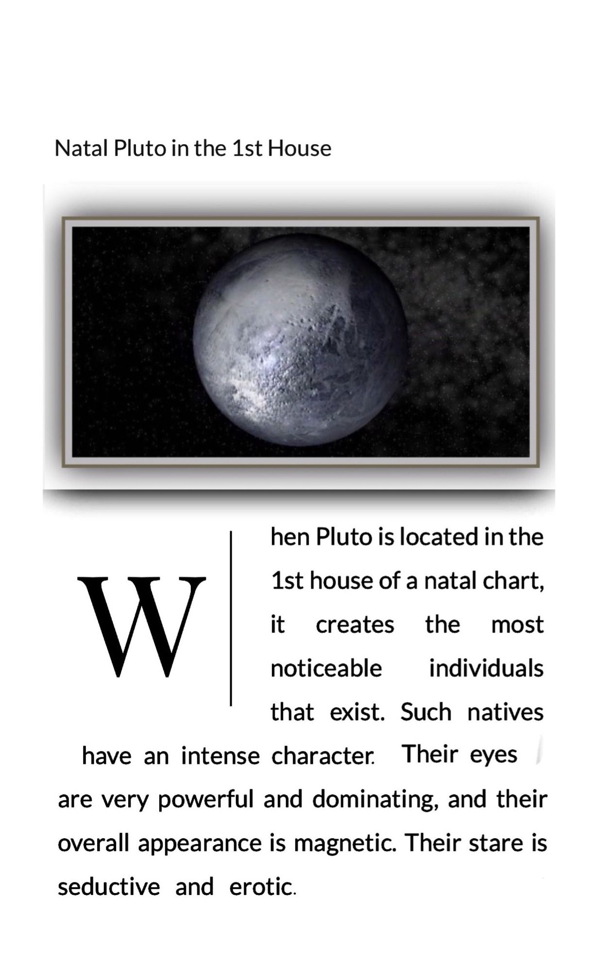 Pluto 1st house conjunct ascendant | Sun in Leo, Moon in