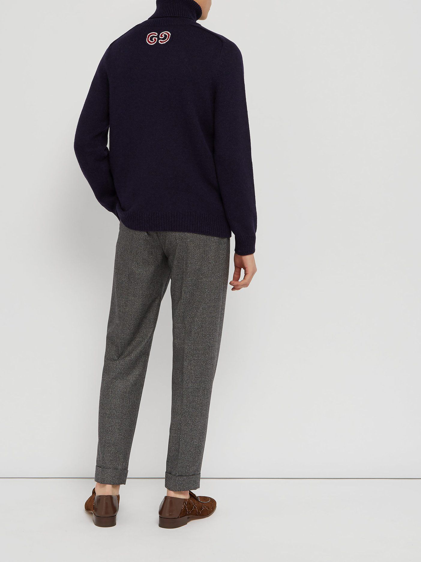 fac76f1a3 GG-embroidered wool-blend roll-neck sweater   Gucci   MATCHESFASHION.COM UK