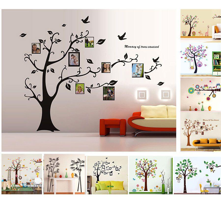 Vintage Baum Wandaufkleber Wandsticker Dekoration Wandtattoo Wanddeko Wanddekoration eBay